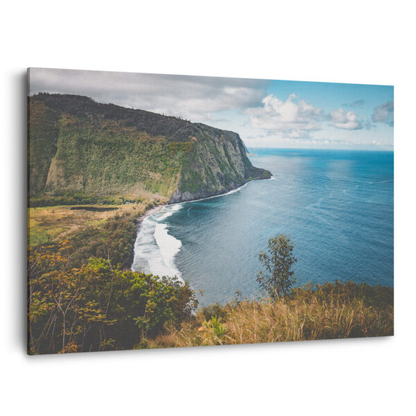 Mockup 3D La vallée de Waimanu à Hawaii