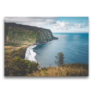 Template Toile La vallée de Waimanu à Hawaii