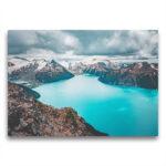 Template Toile Panorama turquoise dans les montagnes côtières
